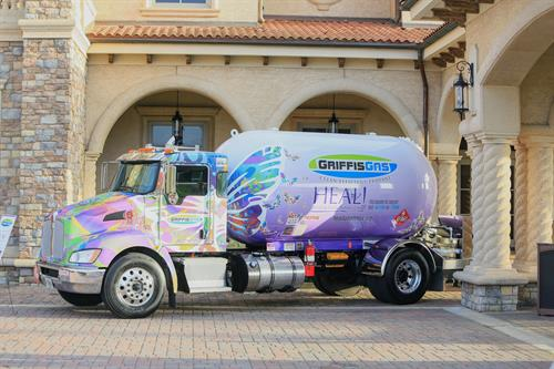Wheelin' and HEALin' Griffis Gas truck