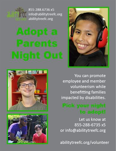Have your business or family 'Adopt' a Parents Night Out