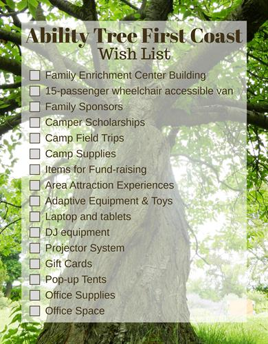 Ability Tree First Coast Wish List