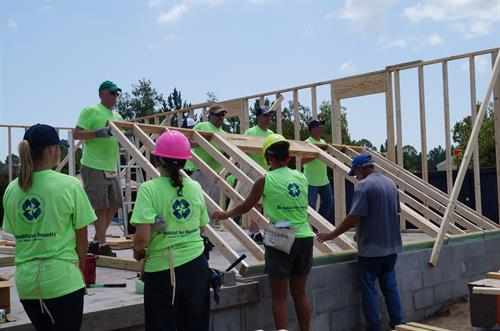 Giving back to the Community- Habitat for Humanity
