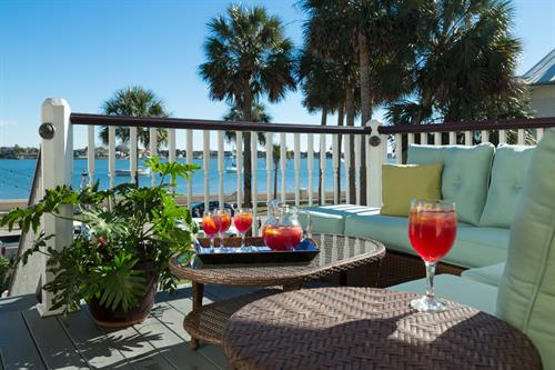 Enjoy complimentary sangria during our daily happy hour.