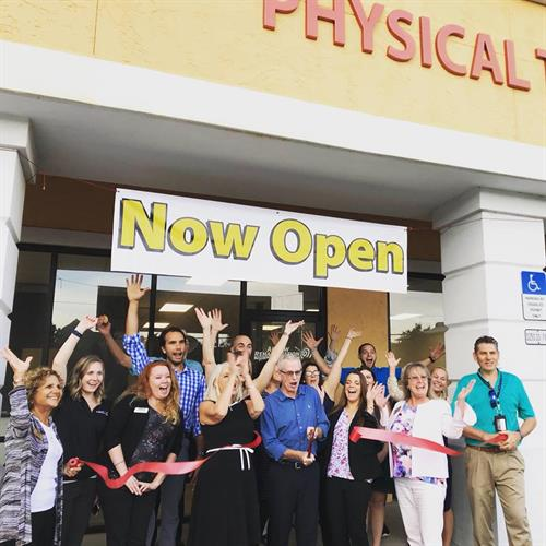Arrow Rehab staff celebrating the grand opening of the St. Augustine clinic in the fall of 2018!
