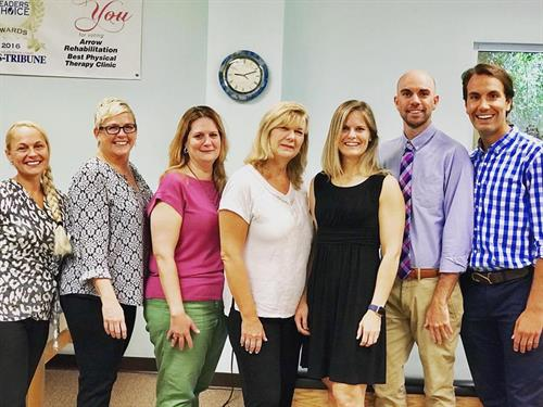 Arrow Rehab's team of expert and caring therapists.