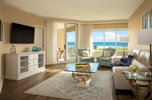 Main Tower Three Bedroom Oceanview Suite Living Area