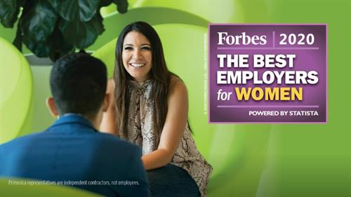 Primerica has been named a top employer for women in 2020 by FORBES.