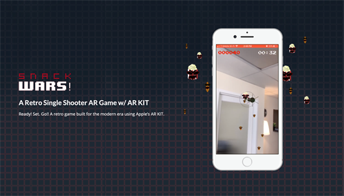 An Augmented Reality (AR) game built using AR KIT