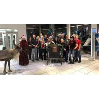 Santa and his Reindeer at Kemna Auto Center