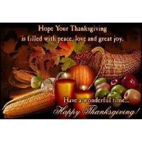Happy Thanksgiving - No Coffee Fri - Nov 29