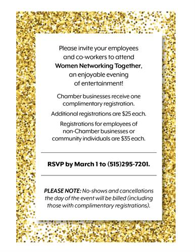 Women Networking Together Invite