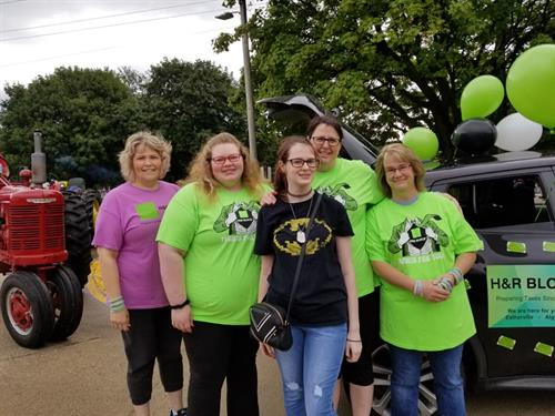 Our Algona Team in another parade August 2019
