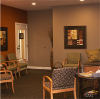 Our welcoming family room to relax in before your appointment