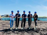 Groundbreaking on new office building