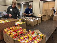 United Way School Supply Drive volunteering in 2018