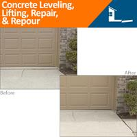 Before & After Concrete Leveling, Lifting Repair, & Repour
