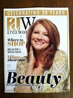 Cover story Area Woman Magazine 2014