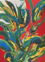 """Fondrose"" Acrylic on Canvas"