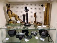 Vintage Cameras, Trench Art, Etc.