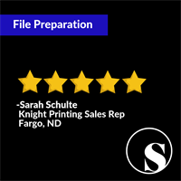 Brochure File Preparation Review from Print Shop - Knight Printing - Fargo, ND