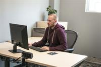 Private Single Office - Height adjustable desks in all offices