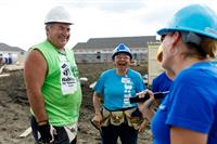 Volunteers have a great time on Habitat builds.