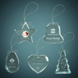 Crystal Ornaments, Laser Engraved