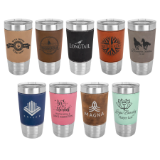 Stainless Steel Leatherette Wrapped Tumblers