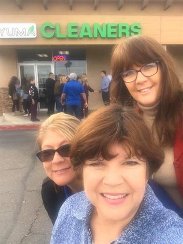Carol, Sabre and Esther