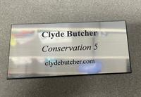 Silver and Black Plate Engraved (Personalized)