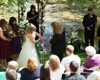 Their love was made clear with their custom RomanticVows.com wedding