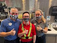 Owner and Operator Rick Michaels, with Team Member Michael, and Hospitality Supervisor Brittny excited and ready to serve you