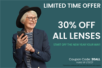 Save 30% Off All Lenses