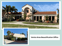 Exterior Painting of The Venice Area Beautification Office, formally the Venice Area Chamber Of Commerce.
