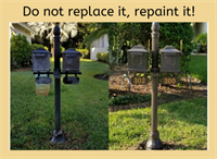 366 mailbox posts, mailboxes and flags restored located @ The Venice Golf and Country Club.