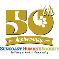 Suncoast Humane Society is celebrating its 50th Anniversary with a newly designed Pet Calendar!