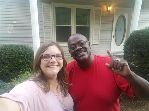 This sweet man was celebrating buying his 1st home!