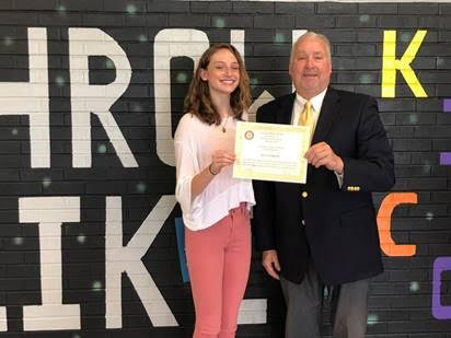 Rotary provides local support in the form of yearly scholarships, donations and awards
