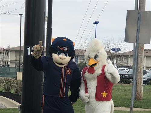 Bojangles and Hot rods Mascot