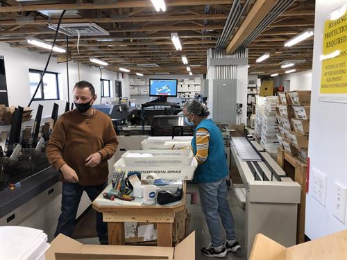 Inserting envelopes at 12,000 per hour!