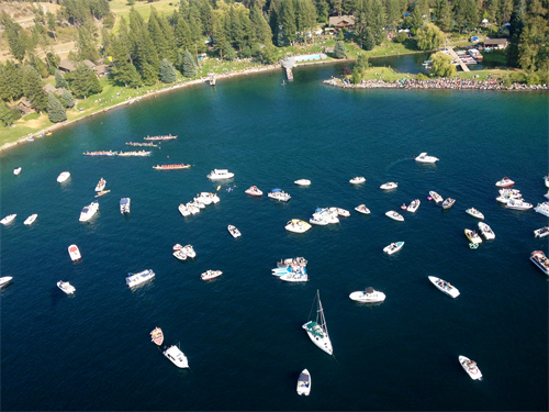 Boats on Flathead Lake