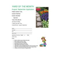 Yard of the Month by Petals Garden Club