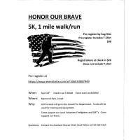 Honor the Brave 5K/1 Mile Walk/Run