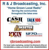 WWWI CASH 95, KLKS Talk 100,  KFGI Skeeter 101.5, KKIN Radio, WWWI-AM 1270, KKIN-AM 930/103.1