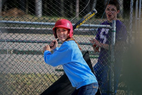 Batting cages - hard and softballs, varying speeds!