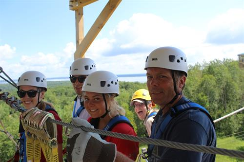Brainerd Zip Line Tour - Can you spot the guide?