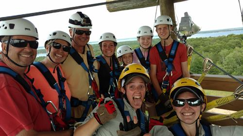 Group zip line fun!