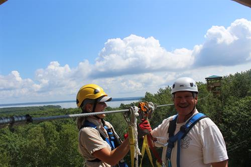 Enjoying the 15 mile views at Brainerd Zip Line Tour!