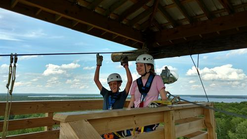 Kids rock at Brainerd Zip Line Tour