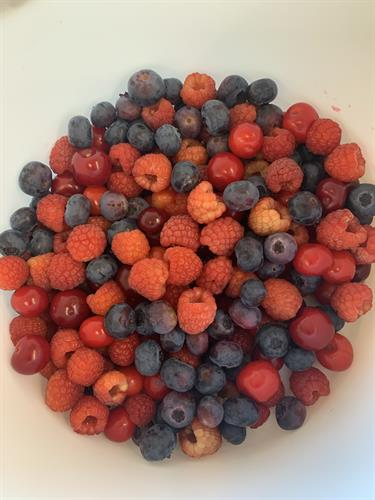 Mixed berries to pick at the farm