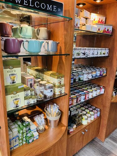 large selection of tea's