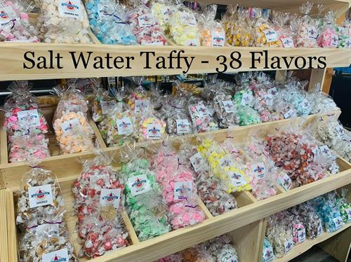 over 40 flavors of taffy